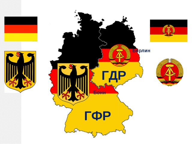 ГФР ГДР Бонн Берлин