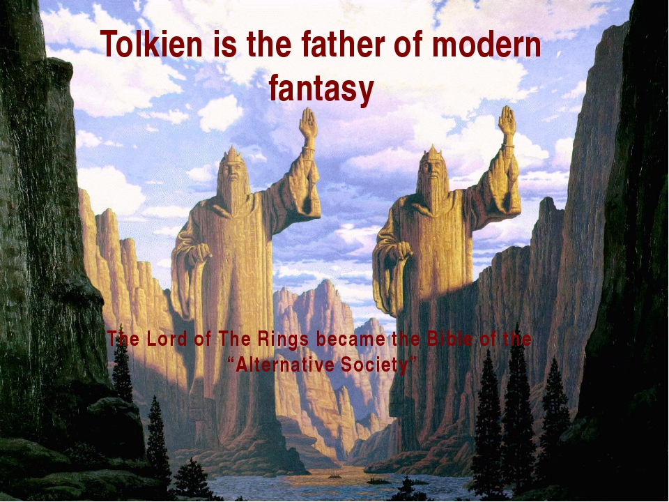 """The Lord of The Rings became the Bible of the """"Alternative Society"""" Tolkien i..."""