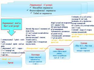 Арнау Эпиграма (жеке біреулерді мінеп, мысқылдайтын сықақ өлең) Баллада (лир