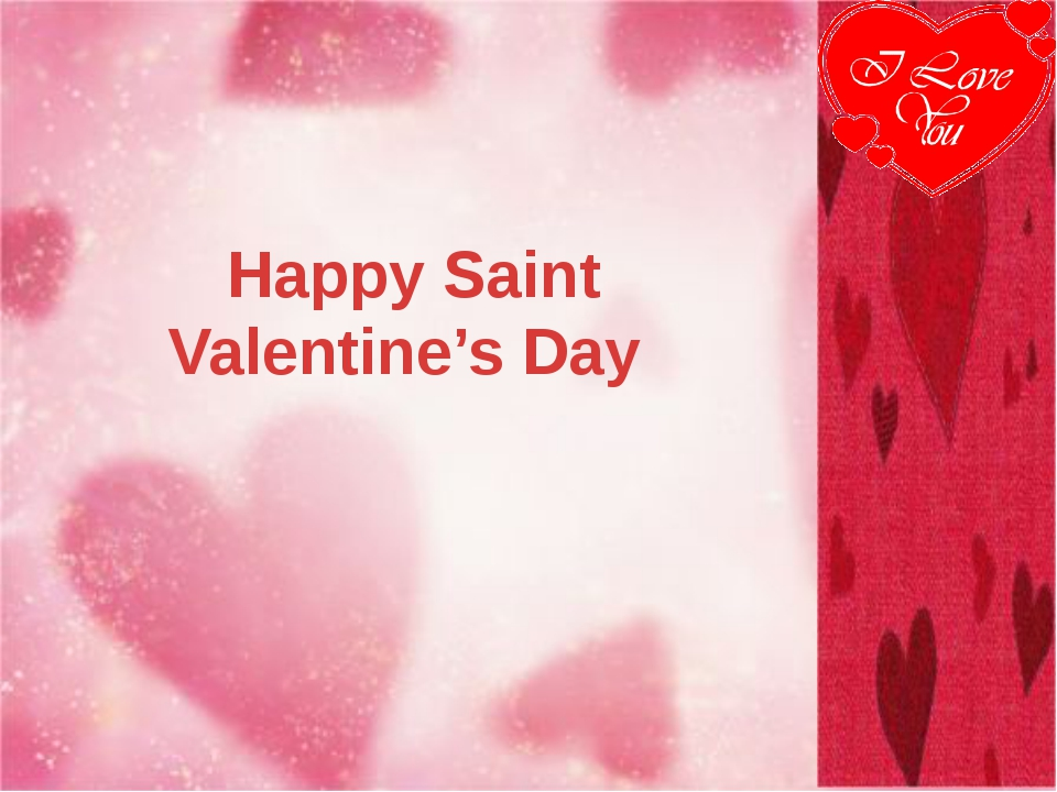 Happy Saint Valentine's Day