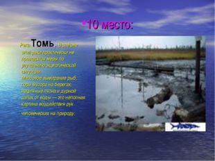10 место: Река Томь. В районе этой реки практически не проводятся меры по улу