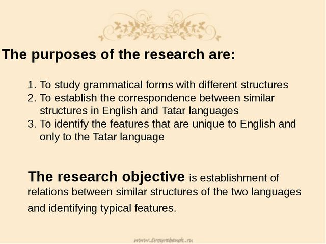 The purposes of the research are: To study grammatical forms with different s...