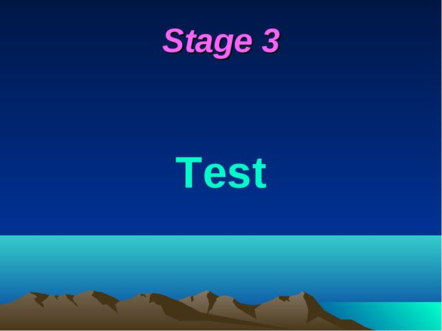 Stage 3 Test