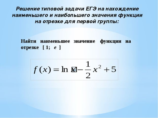 Решение типовой задачи ЕГЭ на нахождение наименьшего и наибольшего значения ф...