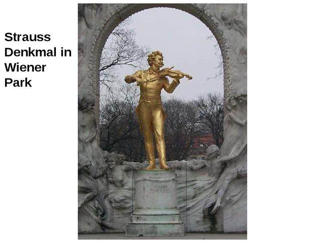 Strauss Denkmal in Wiener Park
