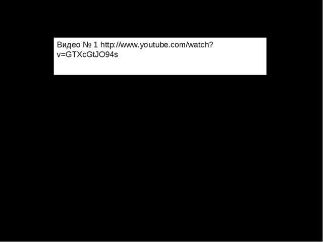 Видео № 1 http://www.youtube.com/watch?v=GTXcGtJO94s