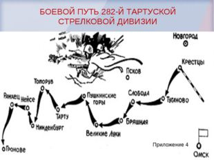 Приложение 4 БОЕВОЙ ПУТЬ 282-Й ТАРТУСКОЙ СТРЕЛКОВОЙ ДИВИЗИИ