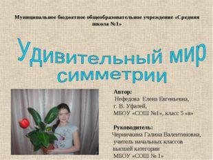 Муниципальное бюджетное общеобразовательное учреждение «Средняя школа №1» Авт