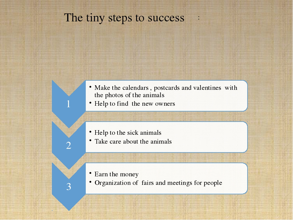 The tiny steps to success :