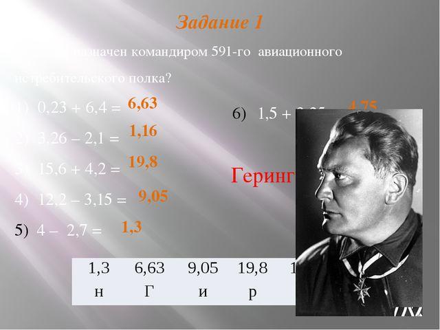Задание 1 Кто был назначен командиром 591-го авиационного истребительского по...