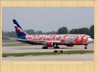 Самолет олимпийской сборной России