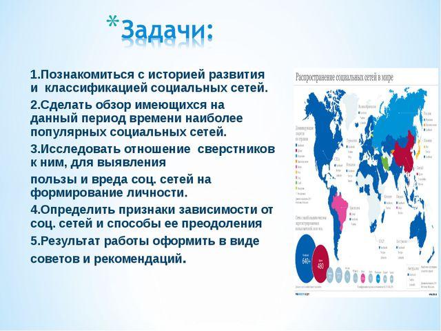 1.Познакомиться с историей развития и классификацией социальных сетей. 2.Сдел...