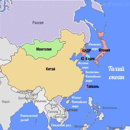 Страны Восточной Азии