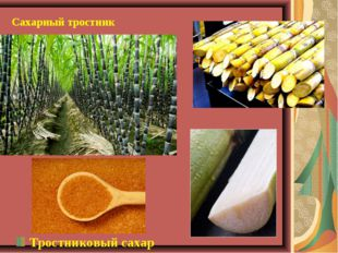 Сахарный тростник Тростниковый сахар