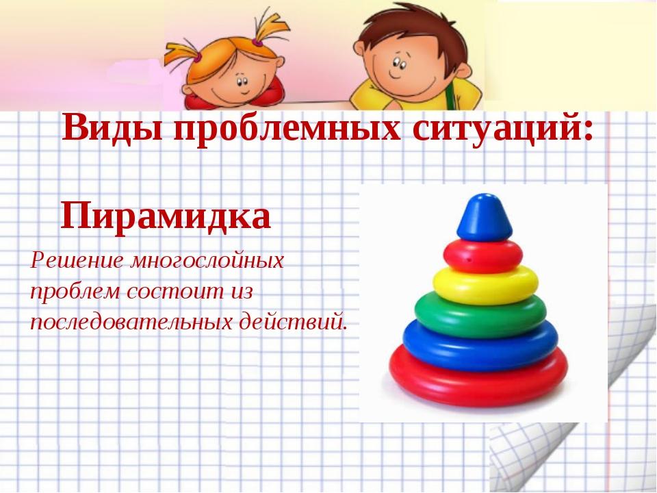 Виды проблемных ситуаций: Пирамидка Решение многослойных проблем состоит из п...