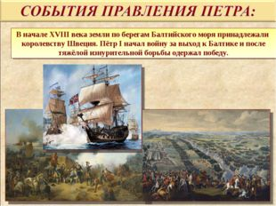 В начале XVIII века земли по берегам Балтийского моря принадлежали королевств