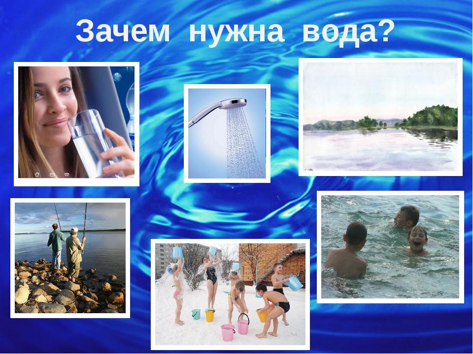 Зачем нужна вода? © Фокина Лидия Петровна