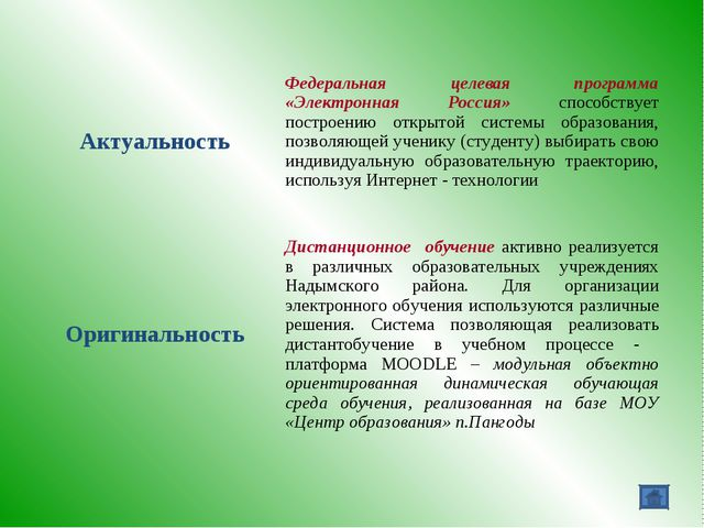 АктуальностьФедеральная целевая программа «Электронная Россия» способствует...