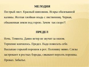 МЕЛОДИЯ Пестрый лист. Красный шиповник. Искры обклеванной калины. Желтая хво