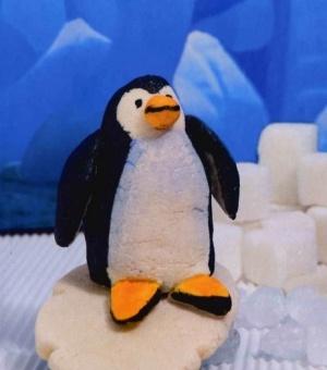Мастер класс соленое тесто поделки делаем пингвина
