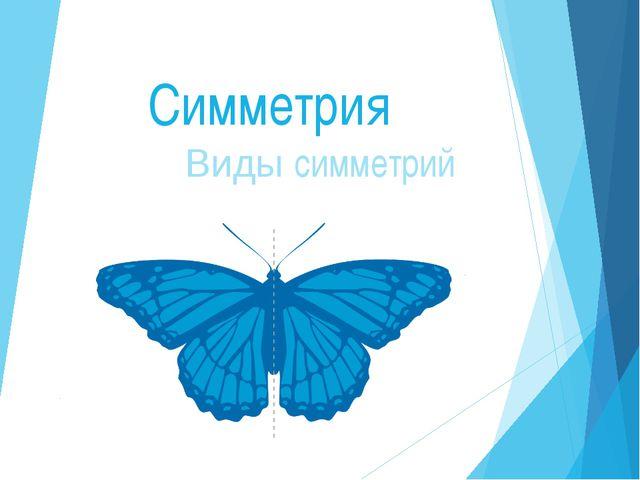 Симметрия Виды симметрий
