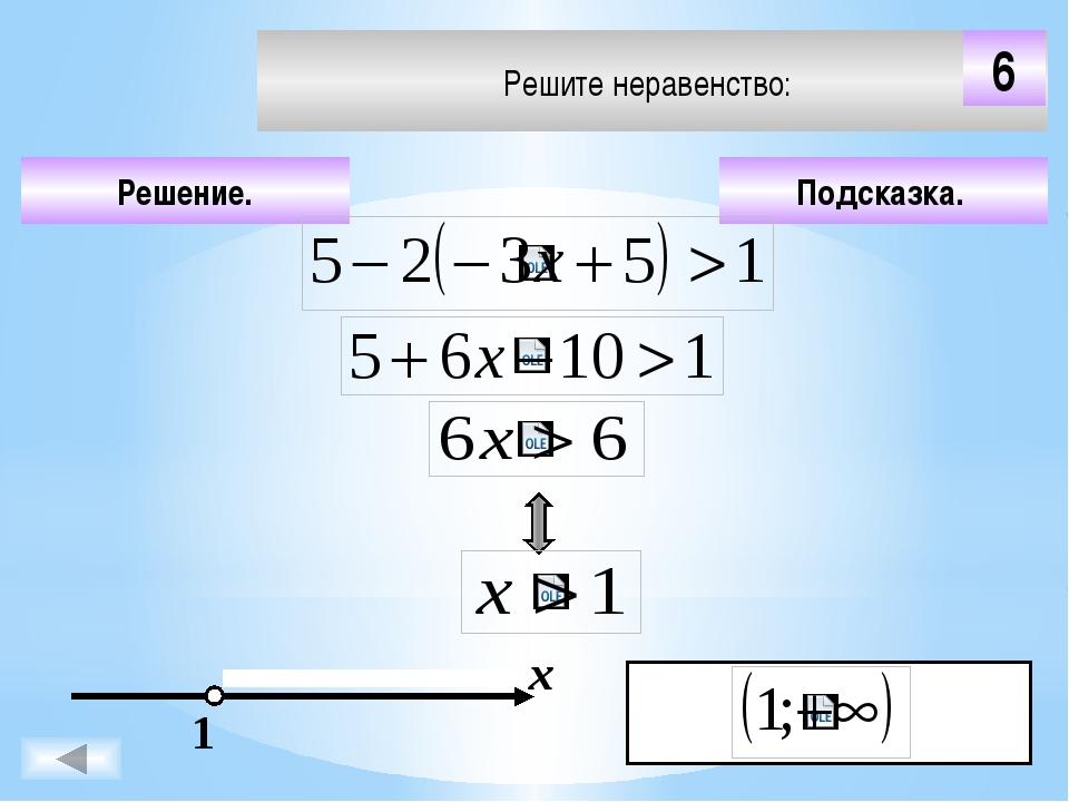 В) х≤-6 А) х≤6 Б) x ≥-6 Г) х˂-6 2) -5х≥30