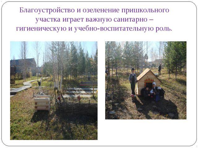Благоустройство и озеленение пришкольного участка играет важную санитарно –...