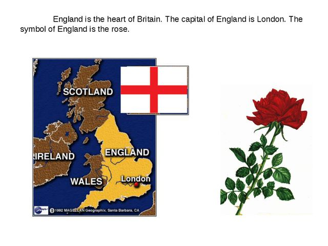England is the heart of Britain. The capital of England is London. The symbo...