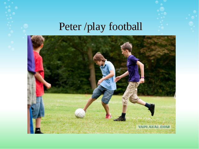 Peter /play football