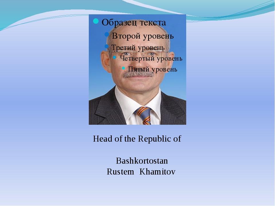 Head of the Republic of Bashkortostan Rustem Khamitov