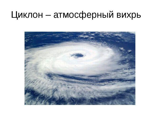 Циклон – атмосферный вихрь