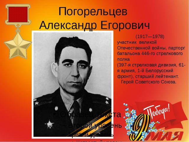 Погорельцев Александр Егорович (1917—1978) участник великой Отечественной вой...