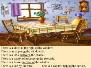 There is a clock to the right of the window. There is an apple on the windows