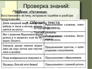 Проверка знаний: Задание: «Путаница» Восстановите истину, исправьте ошибки в