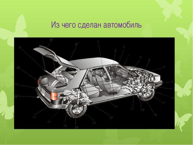 Из чего сделан автомобиль