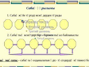 Сабақ құрылымы 1. Сабақ жүйе тәрізді кезеңдерден тұрады 2. Сабақтың кезеңдері