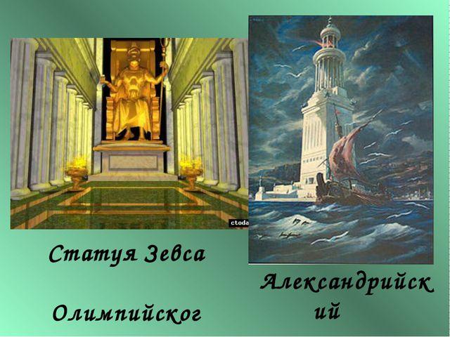 Александрийский маяк Статуя Зевса Олимпийского