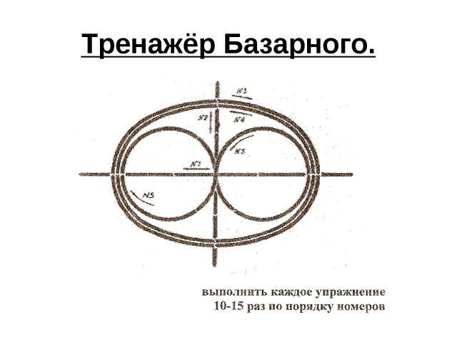 Тренажёр Базарного.