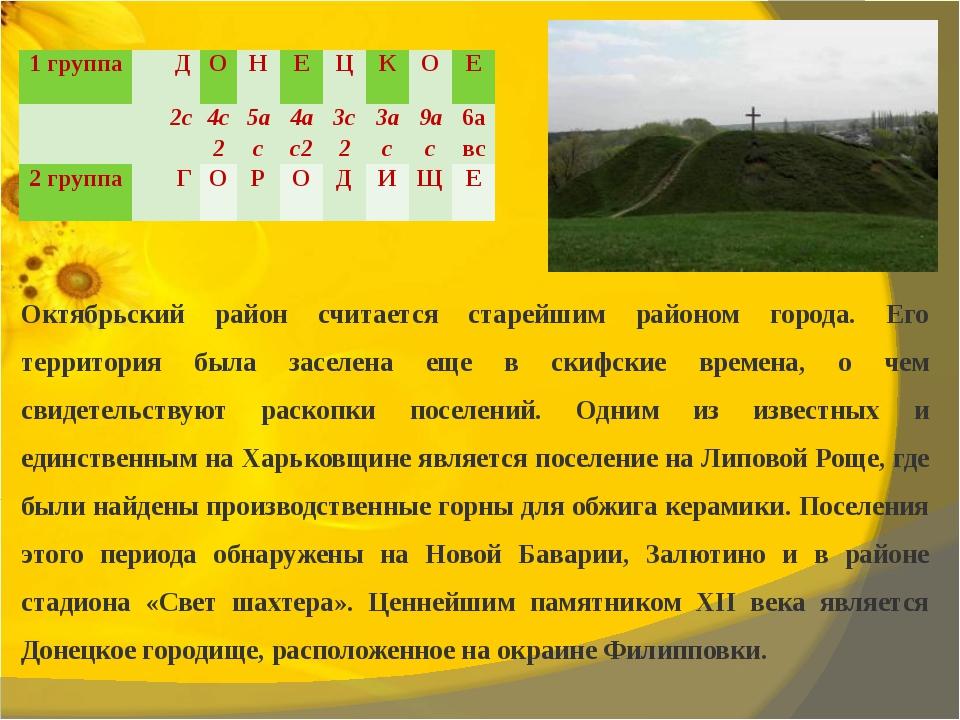 Октябрьский район считается старейшим районом города. Его территория была за...