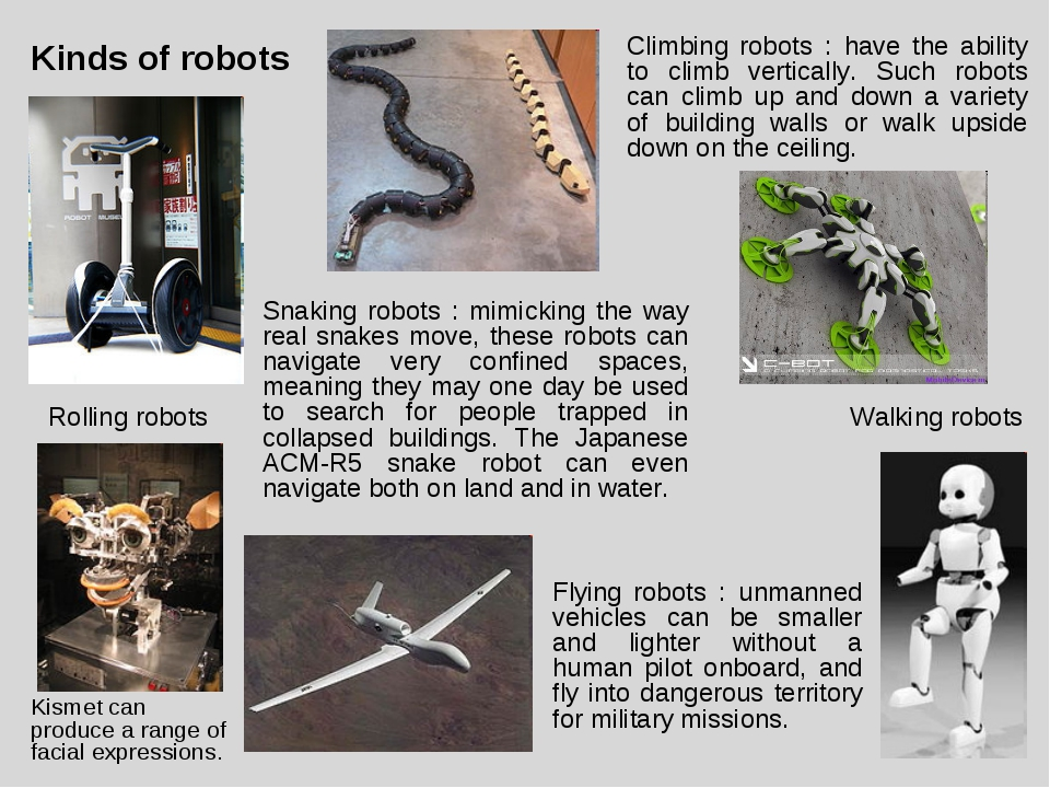 Kinds of robots Kismet can produce a range of facial expressions. Rolling rob...