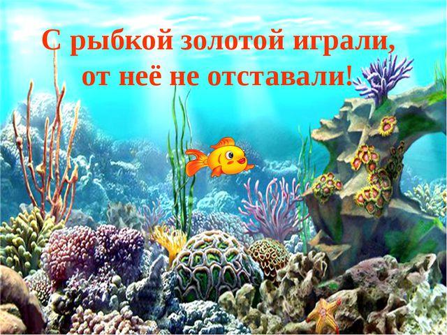 С рыбкой золотой играли, от неё не отставали!