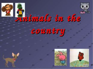 Animals in the country