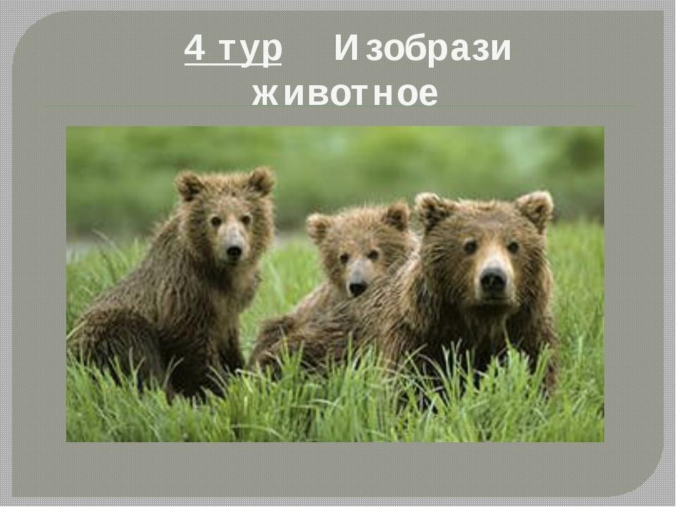 4 тур Изобрази животное