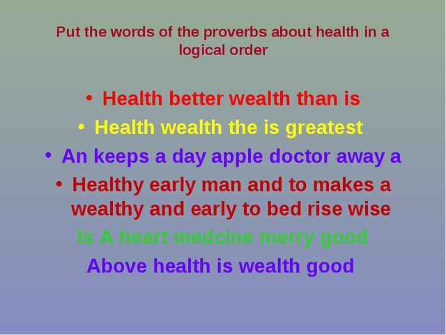 Health better wealth than is Health wealth the is greatest An keeps a day app...