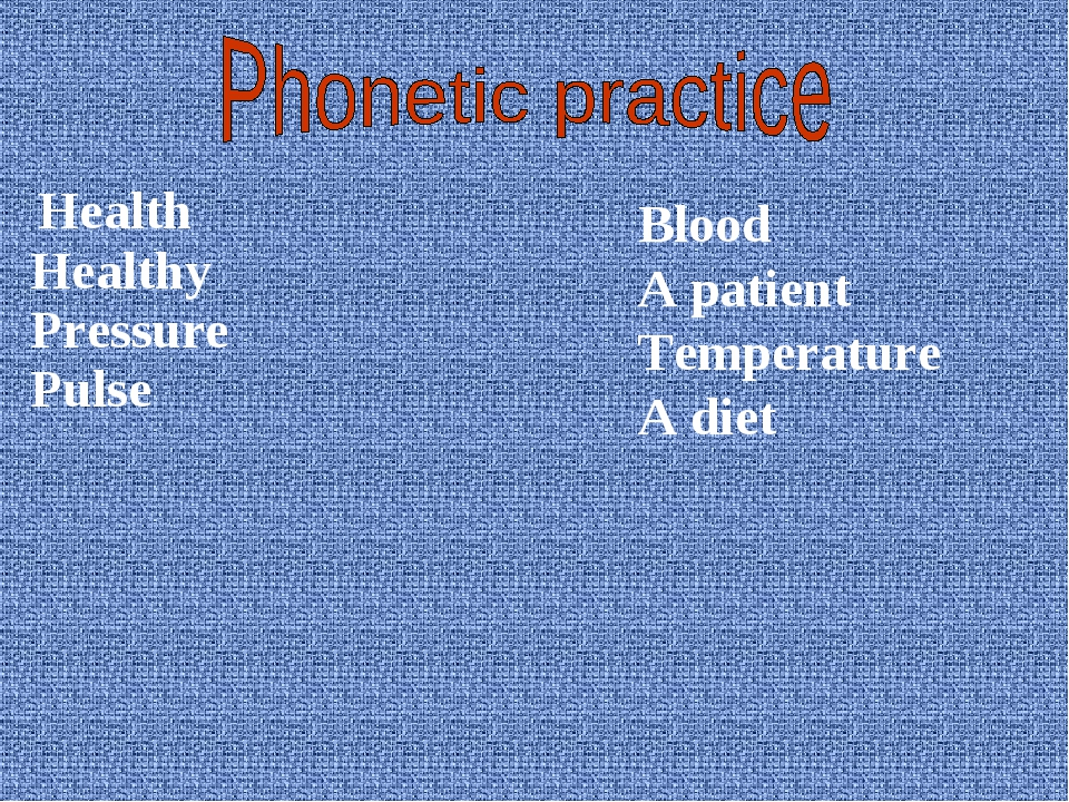 Health Healthy Pressure Pulse Blood A patient Temperature A diet