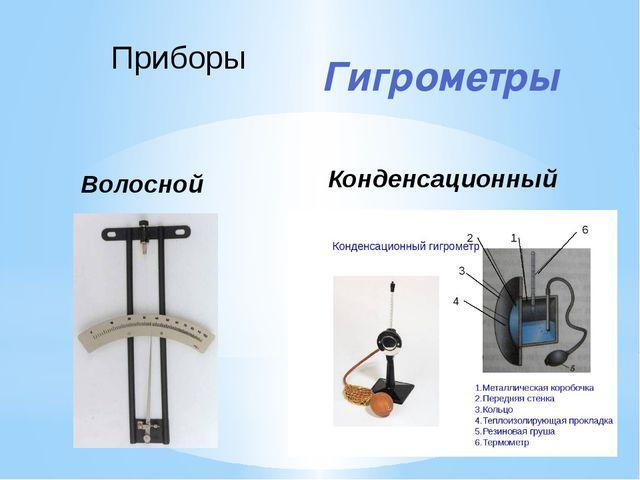Гигрометры Приборы Волосной Конденсационный