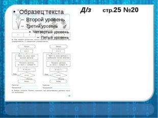 Д/з стр.25 №20