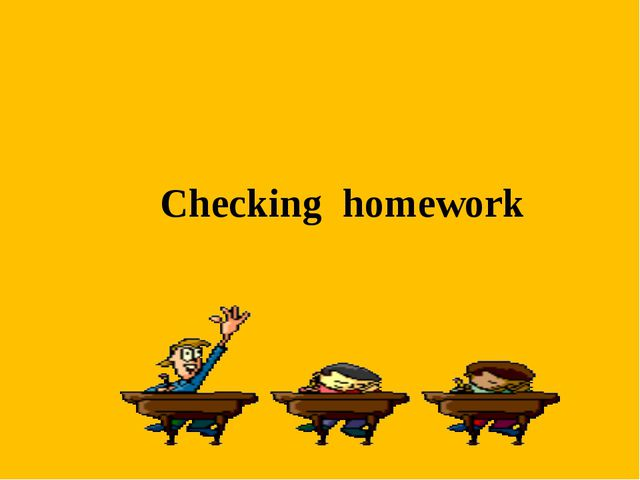 Checking homework