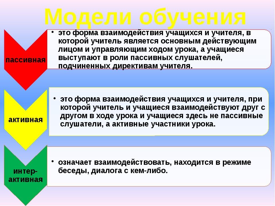 Модели обучения