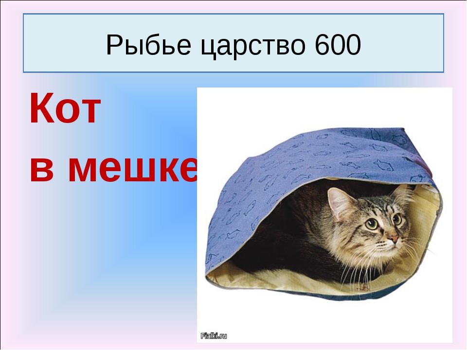 Кот в мешке Рыбье царство 600